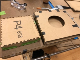 cardboard prototype put together