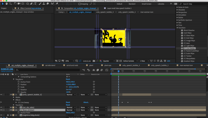 screenshot of photoshop file with animation assets