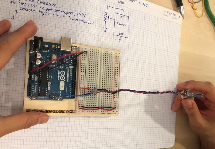 arduino board hooked up