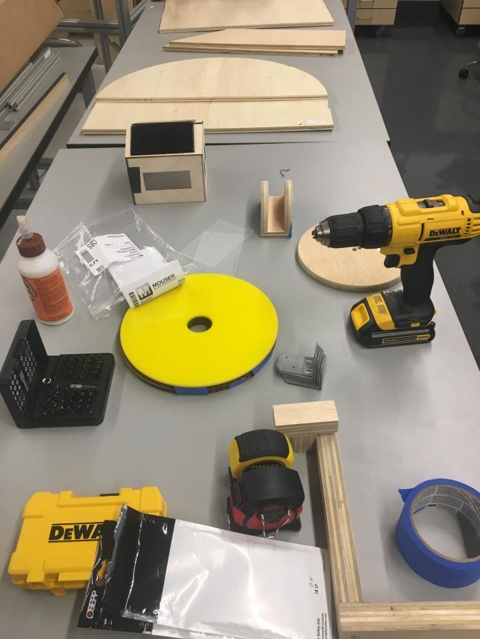 set up for assembling