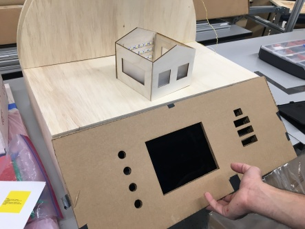 cardboard front panel