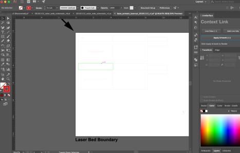 light box dimensions on illustrator